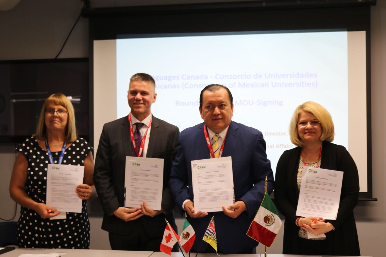 Languages Canada signed agreement with Consortium of Mexican Universities